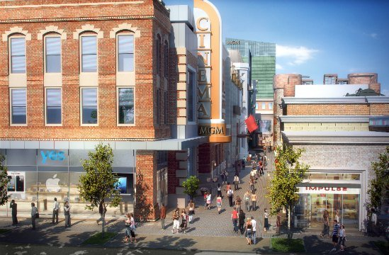 MGM has proposed a theater, ice skating rink and more than 50 residences along Main Street. (MGM)