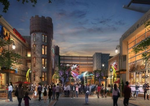 A shopping center and numerous restaurants were included in MGM's plan. (MGM)