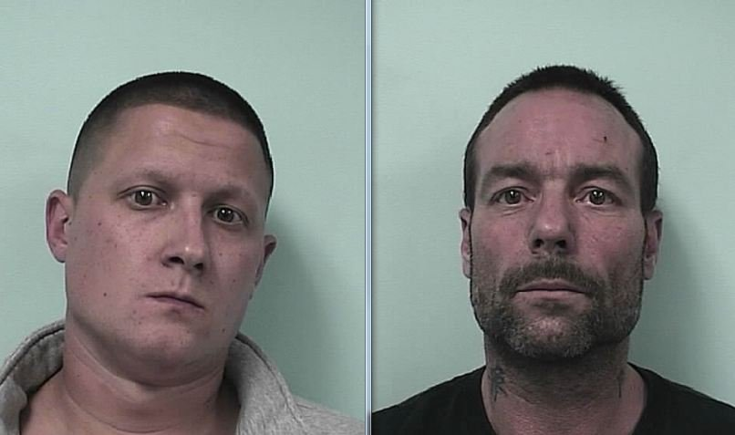 Both 27-year-old Vincent Lollio (left) and 46-year-old Mark Pinette (right) are facing drug charges. (SPD)