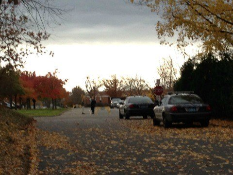 A bomb threat was called in to Amherst Regional High School on Tuesday afternoon.