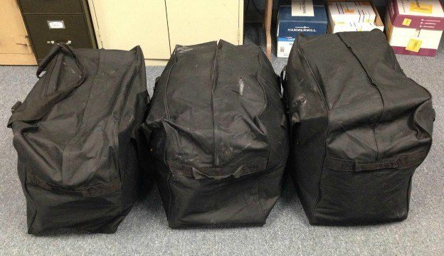 Three bags containing 80 pounds of marijuana were seized after police arrested Pedro Ramos. (CPD)