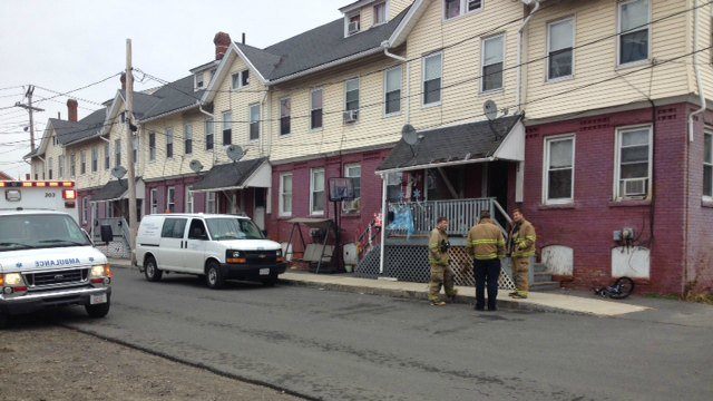 A carbon monoxide leak was reported at 38 Front St. in Chicopee on Monday morning.
