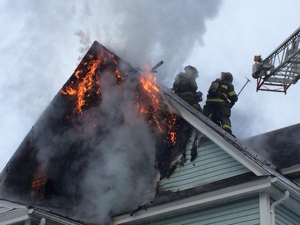 The fire started on the top floor of a multi-family home on Mass. Ave. (SFD)