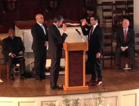 Anthony Gulluni was sworn in as the new Hampden County D.A. in Springfield on Wednesday morning.