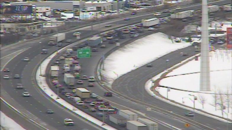 A disabled tractor trailer caused traffic delays on I-91 south in Springfield on Monday afternoon.