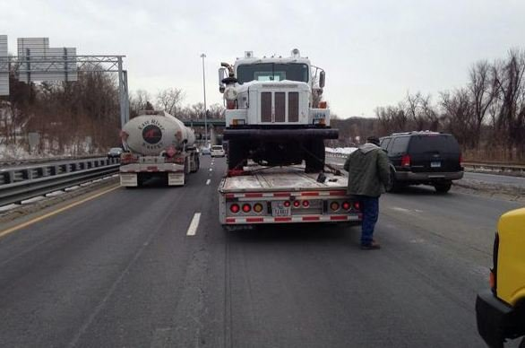 A truck became disabled and caused traffic on I-91 in Springfield. (MSP)