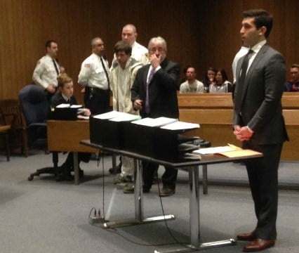 Nickolas Lacrosse was arraigned in Springfield District Court on Thursday. Hampden County District Attorney Anthony Gulluni was present during the arraignment.