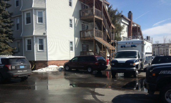 The Springfield Police Department Forensics Unit was at the scene of the Belmont Avenue stabbing on Wednesday morning.