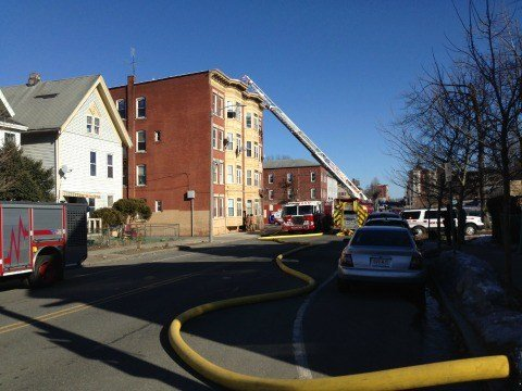 The Holyoke Fire Department extinguished a fire inside of a four-story apartment  building on Dwight Street on Monday afternoon.