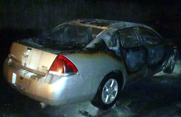 2008 Chevrolet Impala was intentionally set on fire (Dennis Leger / Springfield Fire Department)