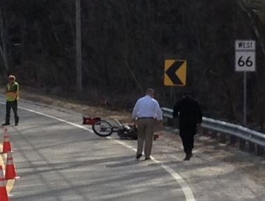 State police are investigating a fatal motorcycle accident that occurred on Route 66 in Westhampton on Monday afternoon.