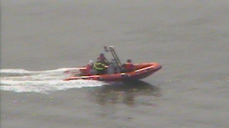 Numerous rescue boats were launched in an effort to find the two jumpers.