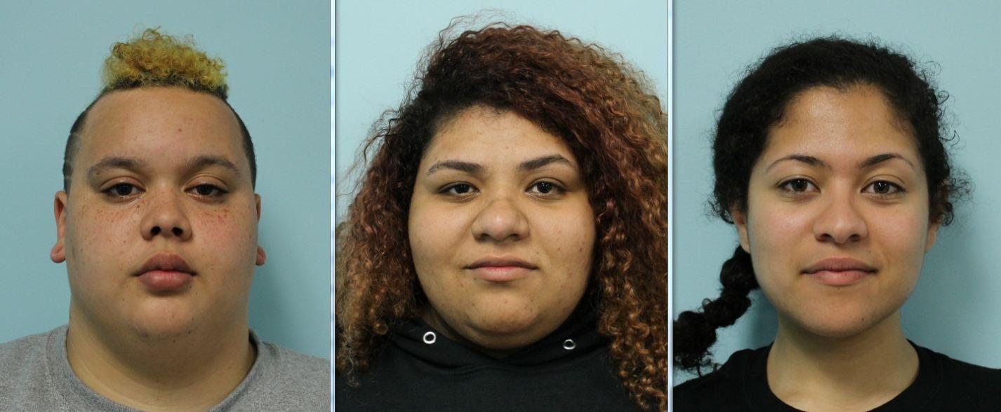 Mug shots of Ashley Gadson, Shana Nunez and Vanessa Lynch. (Source: SPD)