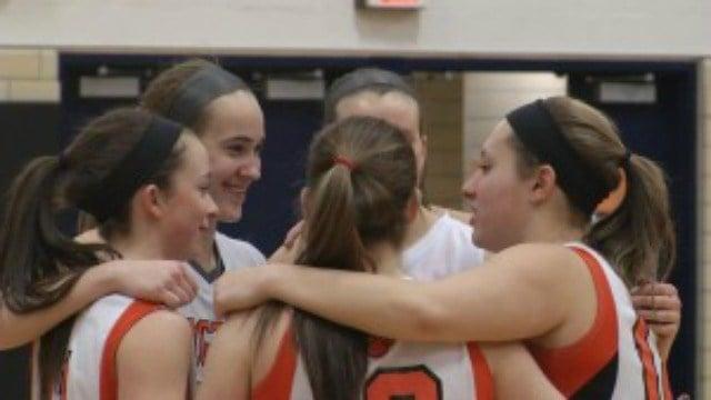Sophie Gatzounas with her teammates.