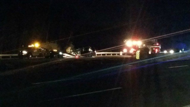 State police responded to a rollover accident on I-91 just before exit 14 Tuesday night.