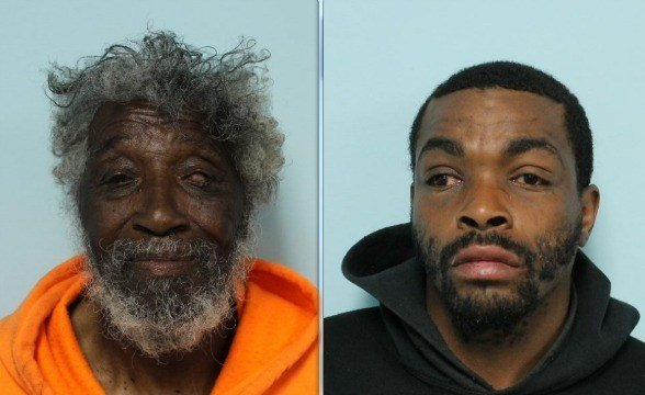 Police charged (right) William Brown, 37, of 2456 North Pleasant St., Amherst, and Randolph Lester, of Woodside Terrace, Springfield, with breaking and entering at night for a felony.  (Source: SPD)