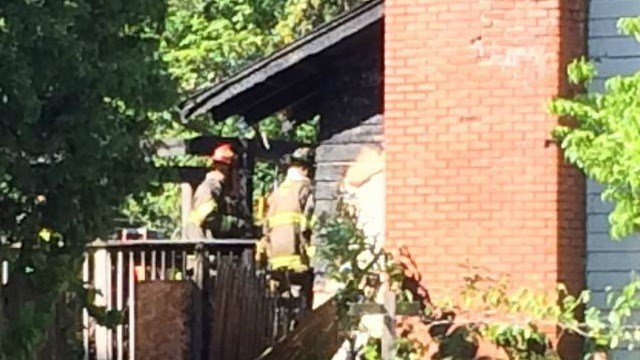 Firefighters at home on Haller Street