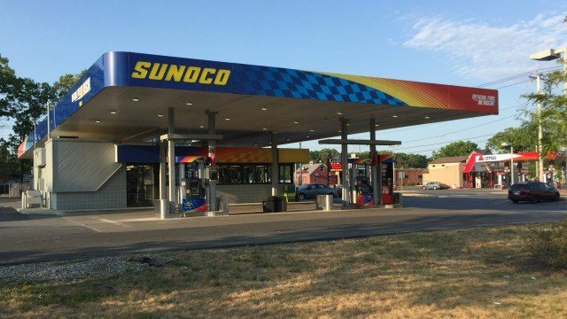 Sunoco gas station at 500 Montgomery St.