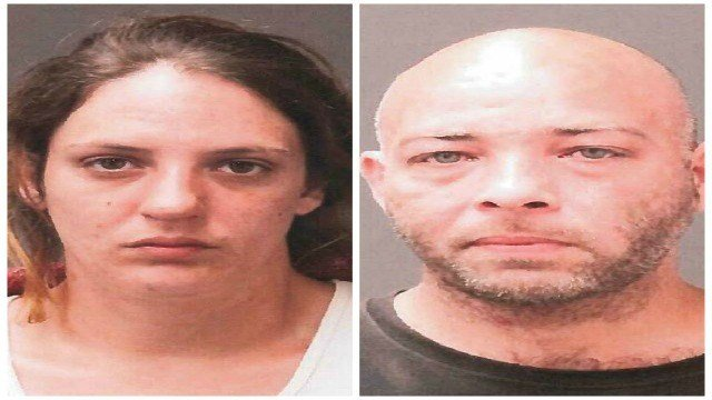 Melissa Holmes & Johnathan Wallace were arrested and charged following an executed search warrant in Ware on Saturday. (Ware Police Department)