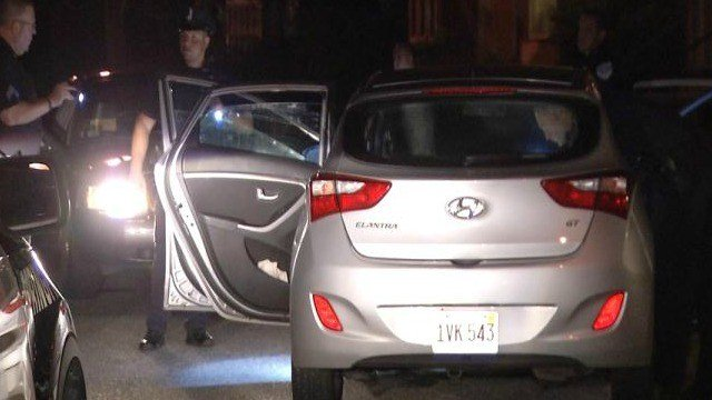 (photo of car involved in chase)
