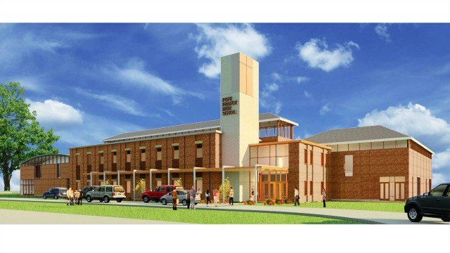 Rendering of the new Pope Francis High School (Image provided by Balboni Advertising and the Diocese of Springfield)