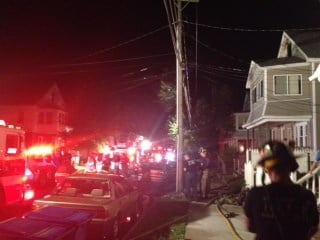 Seven residents were displaced following a house fire on Draper Street Thursday night.