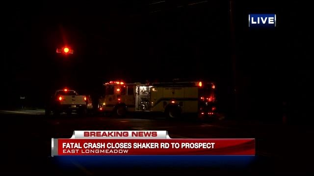 State and East Longmeadow police investigated a fatal car accident on Prospect Street in East Longmeadow Monday night.