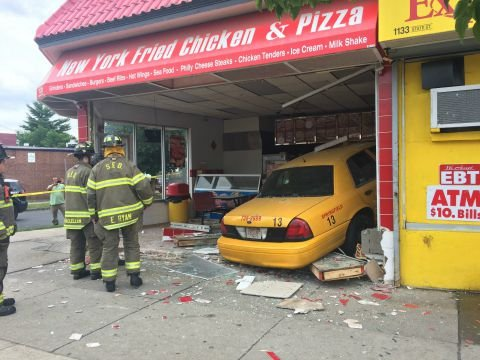 (Taxi inside the business on State St. in Springfield)