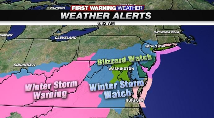 (Watches and warnings have been issued several states)